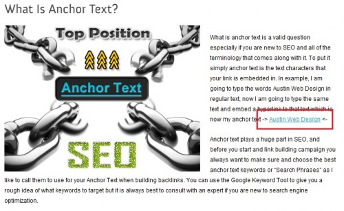 Austin Web Design | What Is Anchor Text | SEO Austin